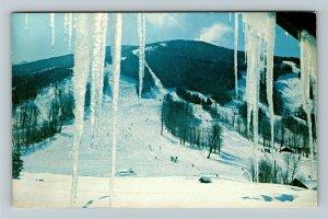 Franconia NH- New Hampshire, Mittersill's Ski Slopes, Chrome Postcard