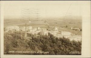 Rutland MA State Sanatorium c1930 Real Photo Postcard