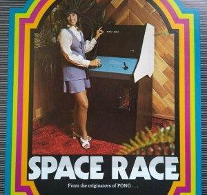 Atari Space Race Arcade FLYER 1973 Original NOS Space Age Art  Retro Video Game
