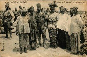 CPA Tirailleurs Senegalais et Senegalaises MAROC (825219)
