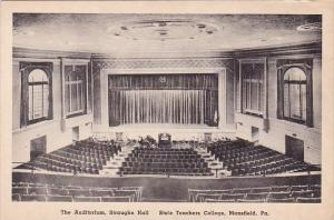 The Auditorium Straughn Hall State Teachers College Mansfield Pennsylvania Al...