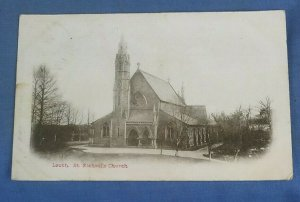Vintage Postcard Louth St. Michael's Church Lincolnshire Postmarked 1906    I1D