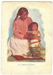 pc2782 postcard Native American Squaw and Papoose MOBSC