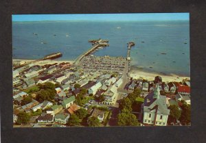 MA Provincetown View from Tower Monument Harbor Cape Cod Massachusetts Postcard