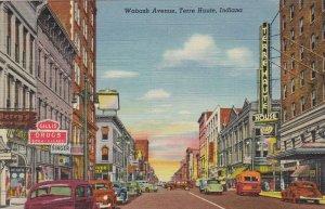 Indiana Terre Haute Wabash Avenue Curteich sk3567