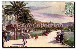 Postcard Old Nice Public Park And Casino