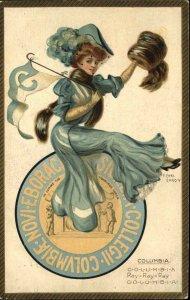 F. Earl Christy College Girl Series COLUMBIA UNIVERSITY TUCK #2625 Postcard