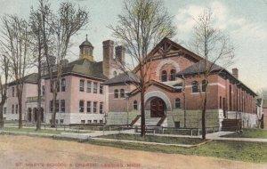 LANSING , Michigan , 1908 ; St Mary's School & Church