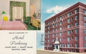 MINNEAPOLIS, Minnesota, 1962; Hotel Parkway, Coffee Shop - Beauty Salon - Bea...