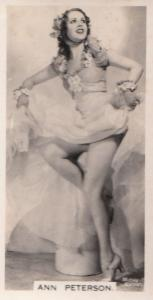 Ann Peterson Hollywood Actress Rare Real Photo Cigarette Card