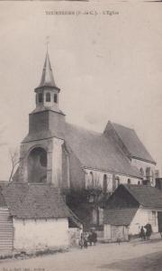 Tournehem Church L'Eglise French Antique Postcard