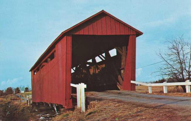 Covered Bridge at Spring Creek near Springfield IL, Illinois