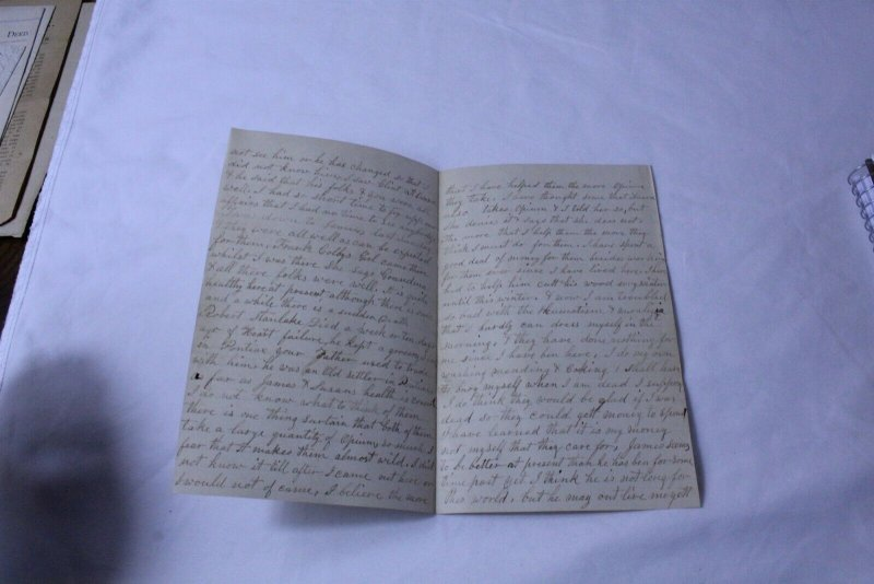 Vintage Hand Written 4 Page Letter 1871 Embossed on Letter Head