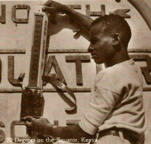 1945 Strut Psychrometer Thermometer Kenya Equator Temperature RPPC Postcard