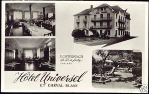 luxemburg, ECHTERNACH, Hotel Universel et Cheval Blanc