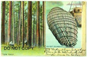 Oregon Forest & Log Raft