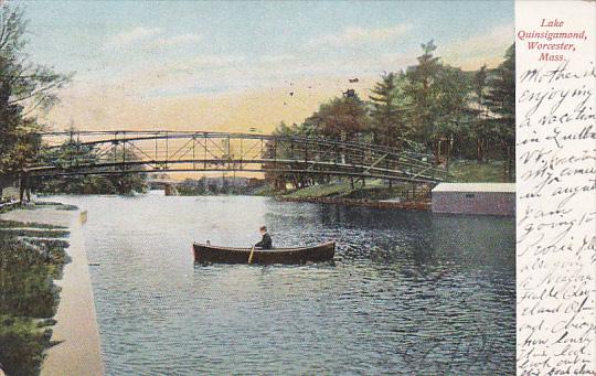 Canoe on Lake Quinsigamond, Worcester, Massachusetts, PU-1906