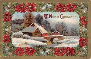 Christmas Holiday Postcard Vintage Xmas Post Card 1910