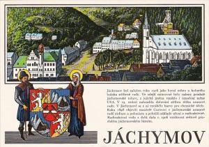 Czech Republic Jachymov Town Scene