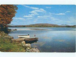 Pre-1980 LAKE SCENE Lake Pleasant - Near Speculator & Piseco New York NY AE3813