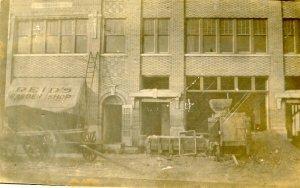 MN - Verndale. Reid's Barber Shop, 1917   *RPPC   (damaged)