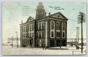 Alton Illinois~City Hall~Mississippi River Backdrop~CU Williams Photoette~1910