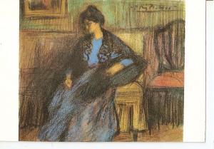 Postal 045626 : Museo Picasso. Barcelona. mujer con manton sentada carboncill...