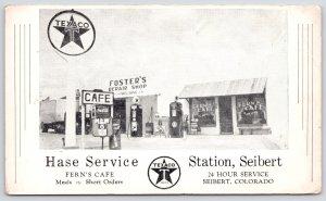Seibert Colorado~Hase Texaco Gas Station~Fern's Cafe~Foster's Repair Shop~1950