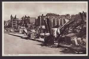 Bombed,Fore Street,London,England,UK Postcard