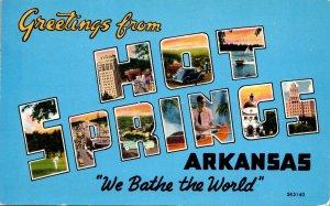 Arkansas Greetings From Hot Springs 1955