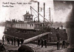 AR - Ouachita River. Frank B Hayne Packet, 1904-08 (5.75 X 4 Photo Reprint)