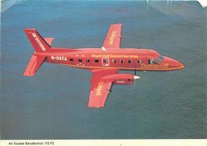 Royal Mail Services plane air ecosse bandeirante aircraft postcard