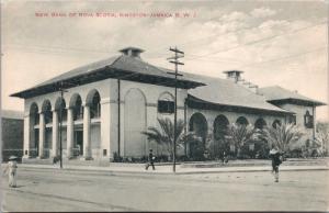 Kingston Jamaica Bank of Nova Scotia New Building Unused Antique Postcard E20