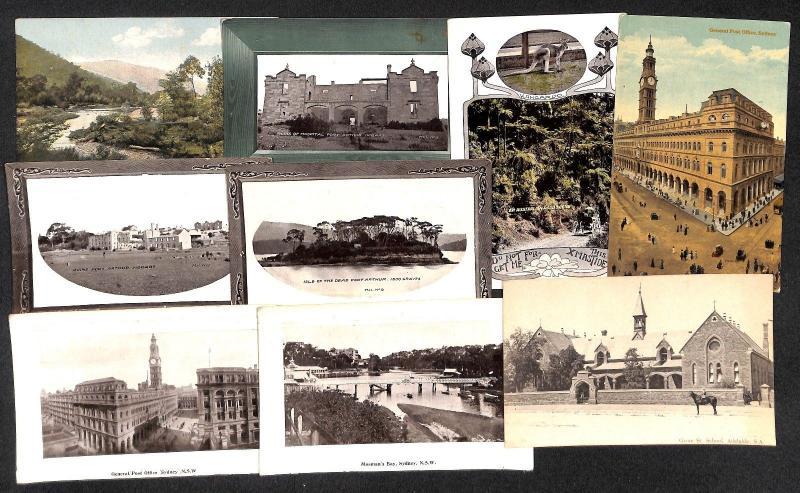 Australia lot 9 vintage postcards