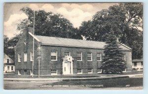 COCHITUATE, MA Massachusetts ~ AMERICAN LEGION HALL  c1940s Postcard