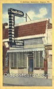 Southside Restaurant, Emporia, Virginia, VA USA Hotel Postcard Motel Post Car...