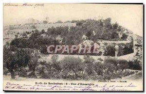 Old Postcard N D Rochefort Overview