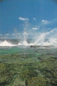 Micronesia Ocean Spray Rough Surf