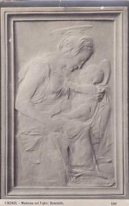 RP, Painting- Woman & Baby, Madonna Col Figlio; Donatello, Firenze (Tuscany),...
