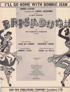 I'll Go Home With Bonnie Jean Brigadoon Vintage 1950s Sheet Music
