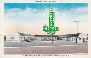 North Carolina Rockingham El Dorado Motel 1960