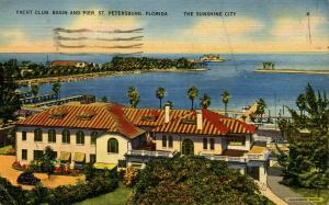 FL - St Petersburg. Yacht Club, Basin, Pier