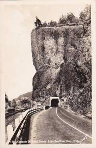 Oregon Columbia River Highway 4 995 Oneonta Bluff And Tunnel Real Photo