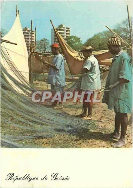 Modern Postcard Republic of Guinea Conakry Given in state of the nets of the si