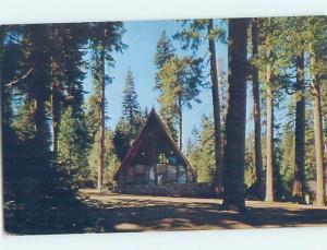 Pre-1980 CHURCH SCENE Hume Lake - Near Fresno California CA A8704