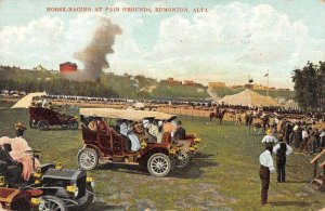 Edmonton Alberta Canada Horse Racing  at Fair Grounds Vintage Postcard JJ649067