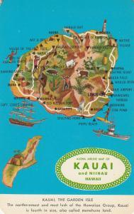 Kauai Niihau Hawaii Map Postcard