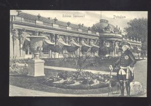 SCHLOSS SANSSOUCI POTSDAM GERMANY ANTIQUE VINTAGE POSTCARD