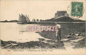 Postcard Old Saint Malo Embacadere Petit Bey