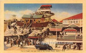Old Orchard Beach, Maine, ME, USA Postcard View of Noah's Ark and Slide ...